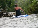 Paddle Boarding the Great River there are some beautiful silent pools to board than sit on your ride