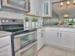 Beautifully updated and fully equipped kitchen at AD102 makes cooking extra fun