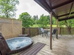 Sunny spacious outside decking area