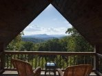 Spectacular mountaintop views from the master bedrooms private deck