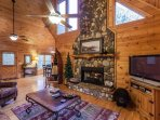 Great Room overlooking the stunning mountain top views