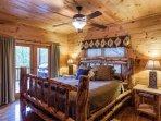 Custom King bedroom on the main level
