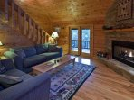 Great room with a gas fireplace