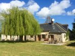 The south facing garden and property frontage at Loire Valley Gites