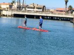 Rent paddle boards and enjoy Oxnard harbor!