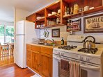 Prepare homecooked meals in the fully equipped kitchen.