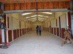 Meander through the 12 stall barn.  Visit the horses, unless they are grazing in the open pasture.