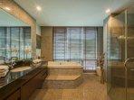 The master suite bathroom