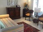 Deuxième chambre lit avec deux lits cicogne de l'appartement Edoardo