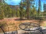 Patio View - Fantastic view of the towering lodgepole pine trees and surrounding forest.