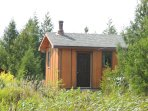Waterfront cozy cabin on private trout lake