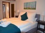 Bedroom 2. Spacious, comfortable, with  luxurious box-spring beds and Egyptian cotton beddings