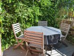 Private terrace with vineyards directly above. Perfect for grilling outdoors.