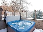 Take in Lovely Views While You Soak in the Private Hot Tub