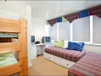 Loft Includes Twin Beds and a Bunk Bed