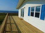 The huge L shaped deck allows for lots of outdoor time!