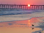 This is the pier you can see from the cottage! The sunsets can be breathtaking beyond words.