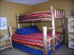 Twin/Queen Bunk Bed in the Third Bedroom