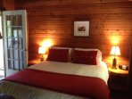 Cooper Lake Cottage Main Bedroom, Queen Bed & Fresh Duvet