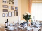 The dining area is ready for delicious dishes
