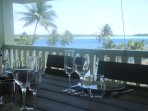 Lunch on the balcony with 180° lagoon view