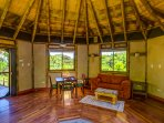 Bamboo House Living area