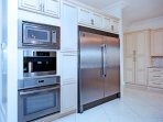 Stainless steel appliances, including wine cooler, cappuccino machine