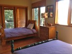 Family Bedroom with Fitzsimmons Creek Far Below