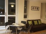 Open plan Lounge/dinning area. Sofa bed for 1 extra guest