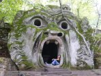 Bomarzo Gardens nearby, an exciting Renaissance garden of extraordinary sculptures