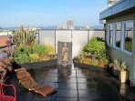 Private 800 sq ft roof terrace and garden. Our hidden Gem!