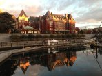 The Fairmont Empress Hotel - cornerstone of Victoria's sparkling Inner Harbour.