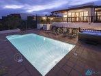 Villa Azure Pool At Dusk