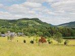 Croftgarrow hamlet nestled in peaceful rural surroundings
