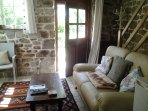 Comfy lounge has stable door to private secluded garden