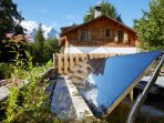 Marmotte Mountain Eco Lodge - thermal panels - Chamonix