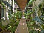 green common areas walkways