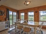 Enjoy gorgeous views with your meals at the kitchen table.