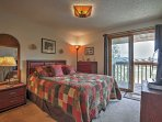 A great night's sleep is sure to be had on the queen bed in the master bedroom.