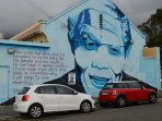 Colourful Cape artist  with Madiba message