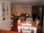 Heatherington cottage dining and lounge area looking fromfrom kitchen