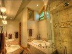 Master Bathroom - Dual Sinks, Jacuzzi Tub, Waterfall Shower, Water Closet