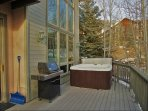 'Tankless' Gas Grill and Private Hot Tub, new in 2015