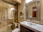 Bathroom 1 is shared by Bedrooms 1 and 4