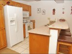 Fully Equipped Updated Kitchen with Granite Counters & New Appliances.