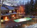 Heated Pool Deck melts away the snow in ski season
