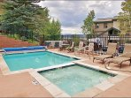 The Heated Pool & Hot Tub are right out front.