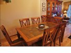 With a Leaf, the Dining Table easily expands to seat 8