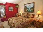 Bedroom 1 - Queen, HDTV Vaulted Ceilings
