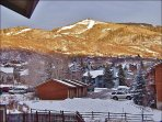 Nice view of the slopes from the balcony & master bedroom